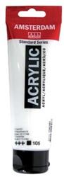 Talens acrylverf Amsterdam zinkwit, tube van 120 ml