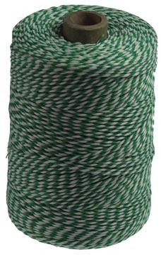 Katoentouw klos van 200 g, groen-wit, +/- 200 m