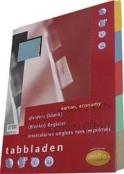 Kartonnen tabbladen in A5 met 5 tabs in geassorteerde kleuren