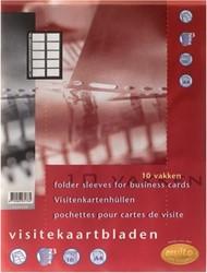 Multo showtas voor visitekaarten 10 vakken 10 stuks