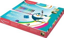 Maped whiteboardmarker Marker'Peps, schoolpack met 168 stuks in geassorteerde kleuren