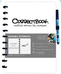 Correctbook A4 gelijnd herbruikbaar schrift, wit