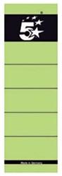 5Star zelfklevende rugetiketten voor brede ordner kort model groen pk/10