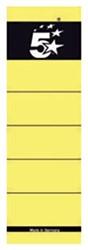 5Star zelfklevende rugetiketten voor brede ordner kort model geel pk/10