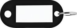 Sleutelhanger zwart, doos van 100 stuks