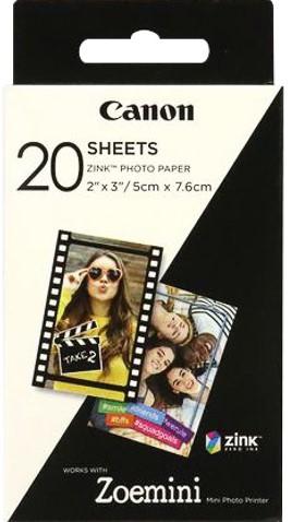 3214C002 CANON ZINK PHOTO PAPER 5x7,5cm 20sheet