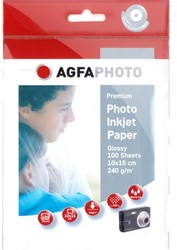 Agfa Fotopapier inkjet 10x15cm 240gr (100) 100sheets 240gr super cast-coated