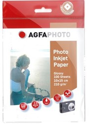 Agfa Fotopapier inkjet 10x15cm 210gr(100) 100sheets 210gr super cast-coated