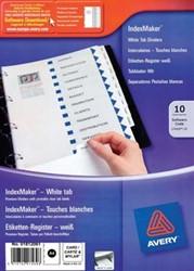Tabbladen A4 printbaar met 10 tabs