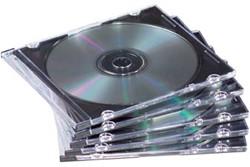CD/DVD hoes Slimline 25 stuks