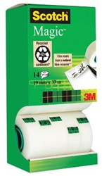 Scotch toren plakband Magic  Tape value pack met 14 rollen waarvan 2 gratis