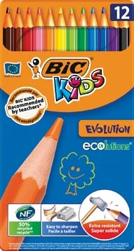 Bic Kids kleurpotlood Ecolutions Evolution metalen doos van 12 stuks