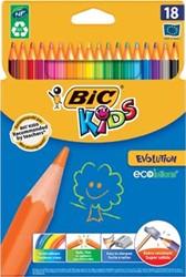 Bic Kids kleurpotlood Ecolutions Evolution 18 potloden