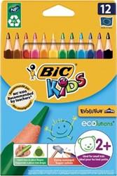 Bic kleurpotlood Ecolutions Evolution Triangle 12 potloden in een kartonnen etui