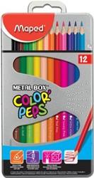 Maped driehoekig kleurpotlood Color'Peps 12 potloden
