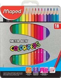 Maped driehoekig kleurpotlood Color'Peps 18 potloden