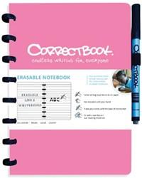 Correctbook A5 gelijnd herbruikbaar schrift, roze