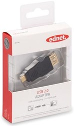 Ednet USB 2.0 adapter type micro B - A