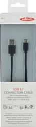 Ednet USB 3.1 kabel type C - A, 1,8 meter