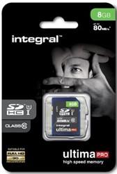 Integral UltimaPro SDHC geheugenkaart, klasse 10, 8 GB