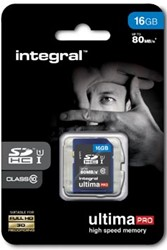 Integral UltimaPro SDHC geheugenkaart, klasse 10, 16 GB