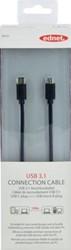 Ednet USB 3.1 kabel type C - Micro B, 1,8 meter