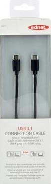 Ednet USB 3.1 kabel type C - C, 1 meter