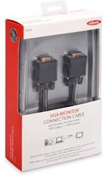 Ednet VGA kabel HD15, 1,8 meter, zwart