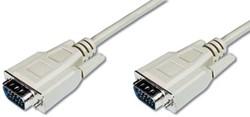 Ednet VGA kabel HD15, 1,8 meter, beige