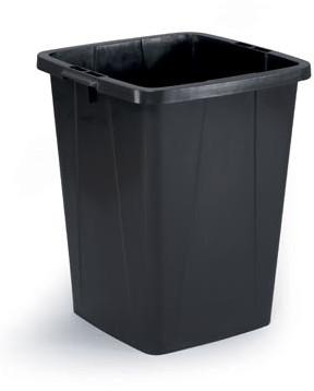 Afvalbak Durable DURABIN 90 liter zwart