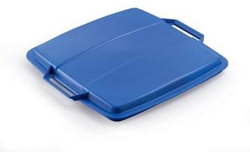 Deksel voor Durable  DURABIN 90 liter blauw