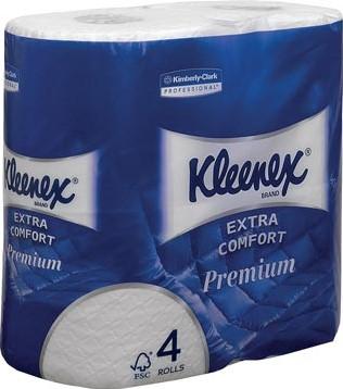 Kleenex toiletpapier Extra Comfort 4-laags 160 vel per rol pak van 4 rollen