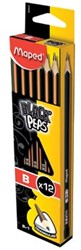 Maped potlood Black'Peps B, zonder gum