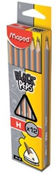Maped potlood Black'Peps H, zonder gum