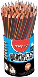 Maped potlood Black'Peps HB, pot met 72 stuks, met gum