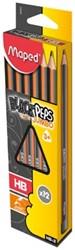 Maped Black'Peps Jumbo potlood, HB, doos van 12 stuks