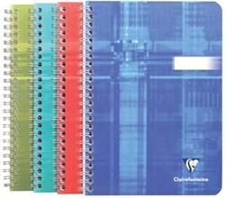 Clairefontaine schrift ft 14,8 x 21 cm, 180 bladzijden, gelijnd, spiraalbinding, geassorteerde kleuren