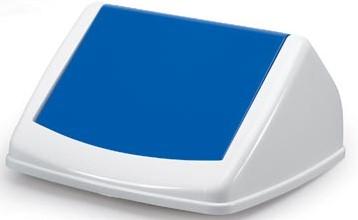 Deksel Fliplid voor Durable DURABIN vuilnisbak 40 liter wit-blauw