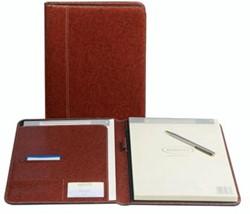 Schrijfmap A5 Palermo bruin met notitieblok              Ft 19,5 x 24,3 cm