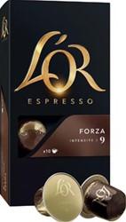 Douwe Egberts capsules voor espressomachines L'Or, Forza, pak van 20 capsules