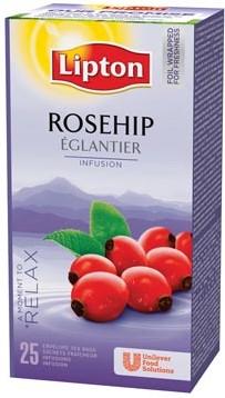 Lipton rozebottel thee 25 zakjes
