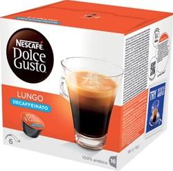 Nescafé Dolce Gusto cups, Lungo Decaffeinato, pak van 16 koffiepads