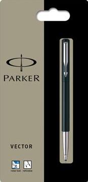 Parker Collectie Vector Standard roller, zwart, op blister
