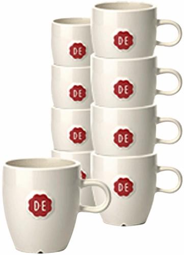 Koffiekopjes Douwe Egberts Espresso 70ml wit