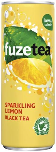 FuzeTea ijsthee Sparkling lemon blik 0.25l