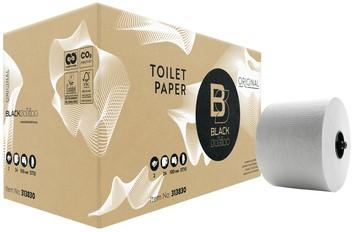 Satino Black toiletpapier 2-lagig wit, pak van 24 rollen
