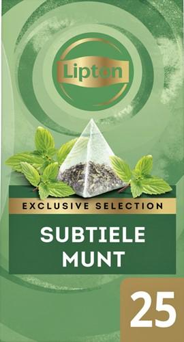 Lipton thee Exclusive Subtile Munt 25 piramidezakjes