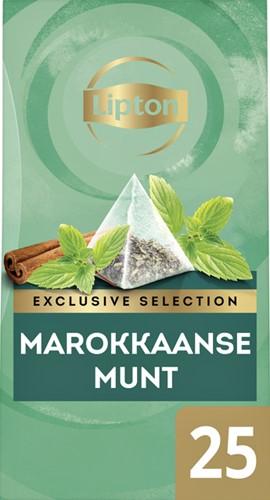 Lipton thee Exclusive Marokkaanse Munt 25 piramidezakjes