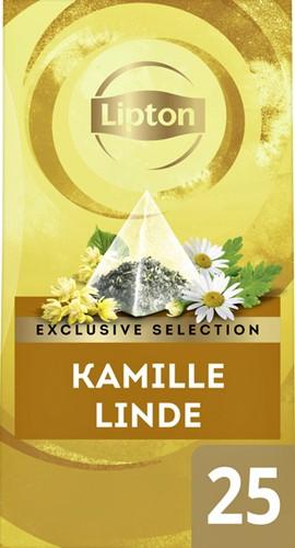 Lipton thee Exclusive Kamille Linde 25 piramidezakjes