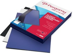 Pergamy omslagen ft A4, 250 micron, glanzend, pak van 100 stuks, blauw